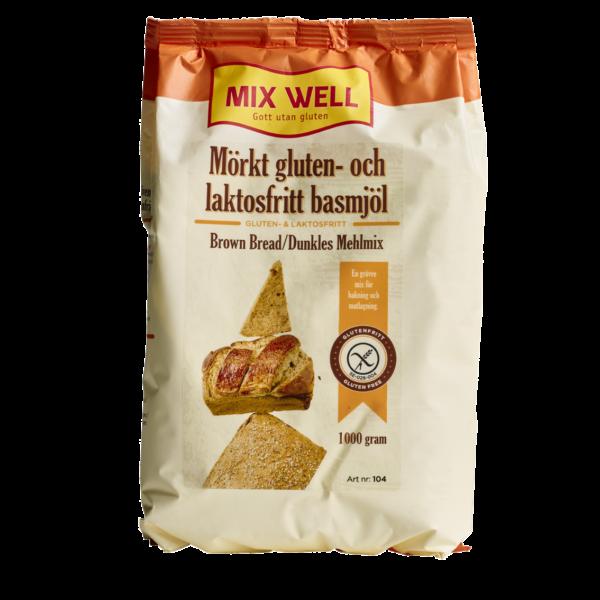 Mix Well - Mörkt gluten- & laktosfritt basmjöl 1000g