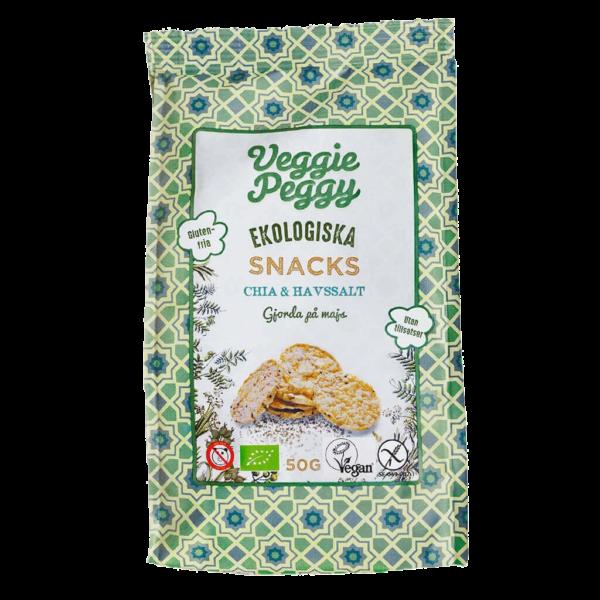 Veggie Peggy Majssnacks Chia & Havssalt 50g