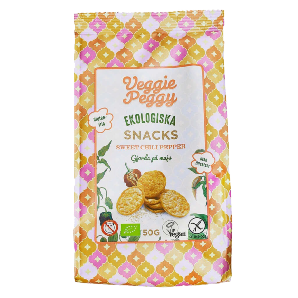 Veggie Peggy Majssnacks Sweet Chili 50g