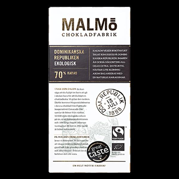 Malmö Chokladfabrik - Dominikanska Republiken 80g
