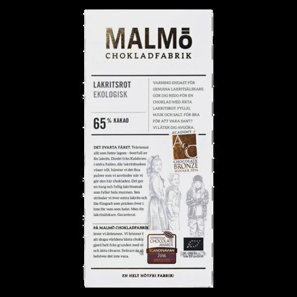Malmö Chokladfabrik - Lakritsrot 80g