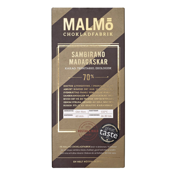 Malmö Chokladfabrik - Sambirano Madagaskar 80g