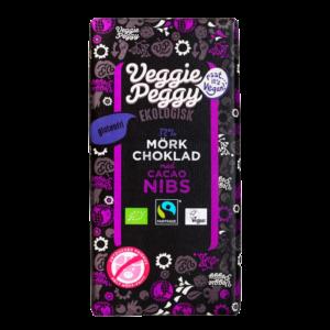 Veggie Peggy - Mörk Choklad Kakaonibs 85g
