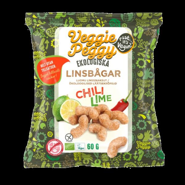 Veggie Peggy - Linsbågar Chili Lime 60g