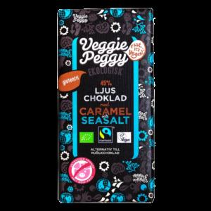 Veggie Peggy - Ljus Choklad Karamell Havssalt 85g