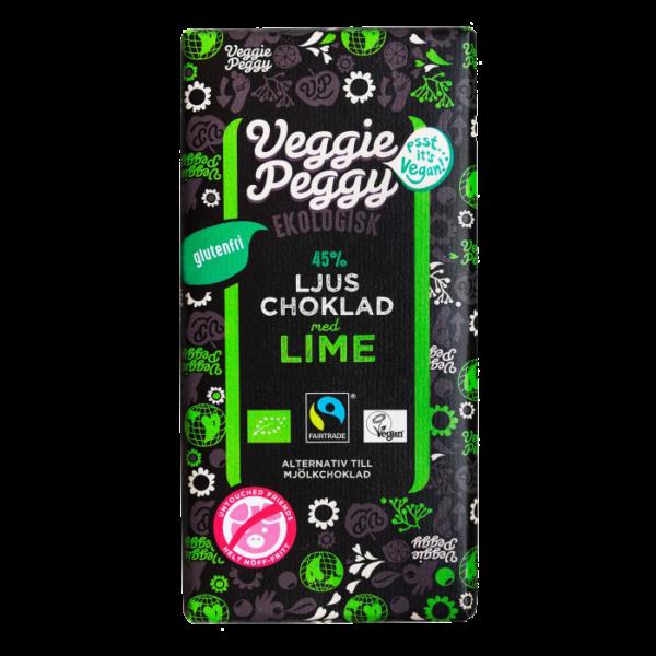 Veggie Peggy - Ljus Choklad Lime 85g